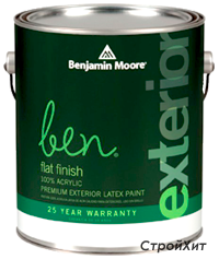 541. Ben Waterborne Exterior Paint Flat Finish